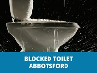 blocked toilet abbotsford