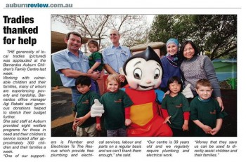 plumber to the rescue supporting barnardos