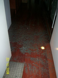 sewage in hallway blocked drains